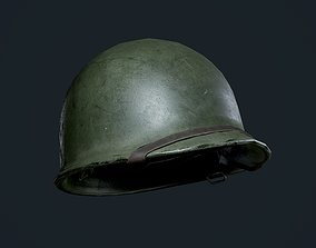 3D model WW2 American Military Helmet Game