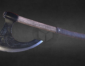 Viking battle-axe 3D asset