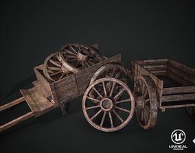 3D asset Medieval Wooden Cart