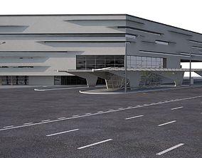 Transport Hub Bus Station 3D