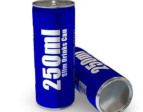 3D asset Drinks Can - 250ml Slim