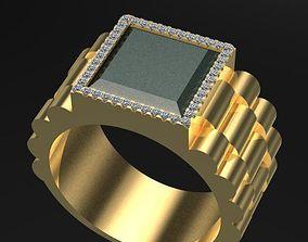 Rolex Style Man Ring 3D print model