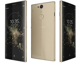 Sony Xperia XA2 Plus Gold 3D model