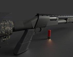 camouflage Remington 870 Tactical 3D asset realtime