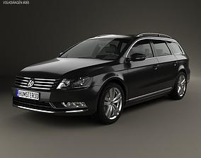 3D model Volkswagen Passat B7 variant 2011
