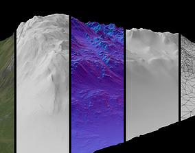 3D asset Sharp Cliff 1 AR VR