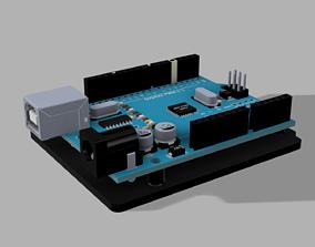 Groundplate Arduino UNO 3D printable model