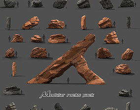 3D model Modular Rocks