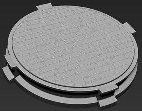 Decorative Brick Base Stand for 3D printable model