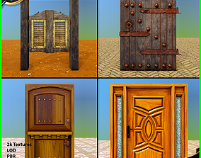 3D asset animated Door Pack - 1