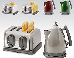 toaster and teapot 3D