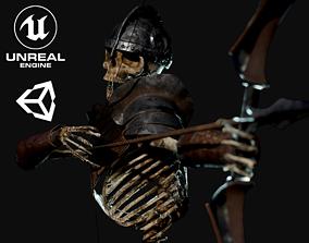 3D model Skeleton Archer - Game Ready