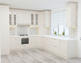 3D Ivory Kitchen Classical