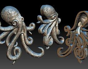octopus silver 3D printable model