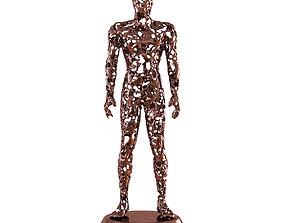 Men metal figurine 3D