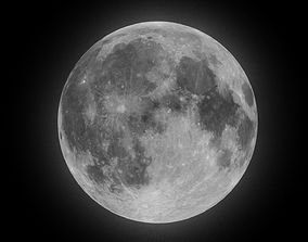 3D model realtime 4K Moon with Moon Phases