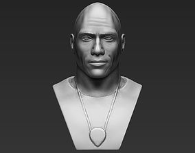 Dwayne Rock Johnson bust 3D printing ready stl obj 1