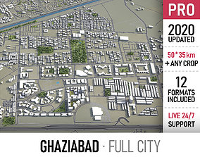 Ghaziabad - city and surroundings 3D asset