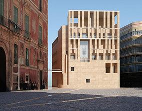 3D Edificio Moneo Ayuntamiento de Murcia architectural