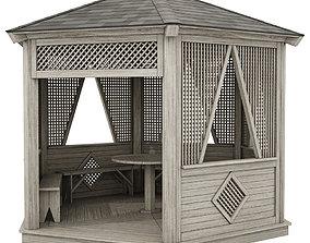 3D model pergola Garden Gazebo made of wood