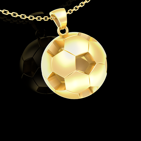 Soccer Football Pendant jewelry Gold 3D print model