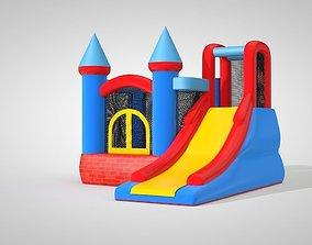 3D model of a kids trampoline house