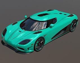 Koenigsegg Agera R Super Sport Car 3D asset