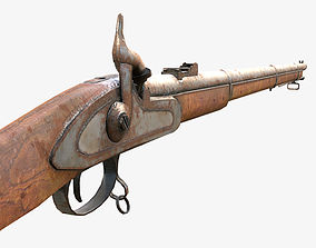3D model Low Poly PBR Rifle