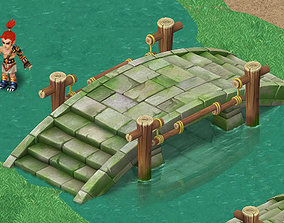 Cartoon version - stone bridge 011 3D