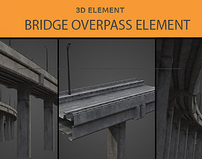 low-poly Bridge Overpass 3D Element