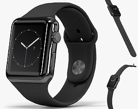 3D model Apple Watch Space Black Stainless Steell Case 3