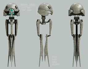 low poly robot droid 3D model