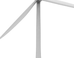 Wind turbine 3D model industrial energy