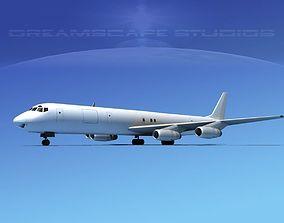 3D Douglas DC-8-63F Unmarked 2