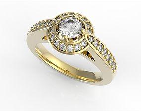 3D printable model Trevi Halo Diamond Ring