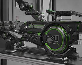 Concept Electron Pulse Cannon 3D model
