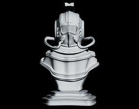 game-ready Helmet Bust Steampunk 3D model