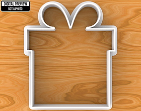 Wedding Present Gift Box with Bow Cookie 3D print model