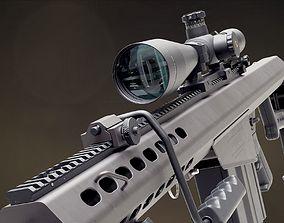 Barrett M82A1 sniper rifle leupold 3D model