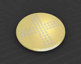 worship cross 3D print model Cross Medallion