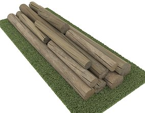 old logs 3D asset
