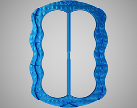 3D print model Dotted Belt Buckle