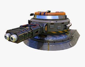 Sci-Fi heavy plasma turret 3D model