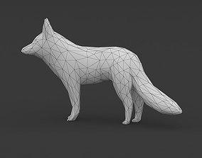Low Poly Fox 3D model
