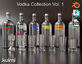 3D Vodka Bottle and Shot Glasses Pack