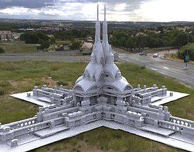 Victorian architecture Ornate grave 4 3D model
