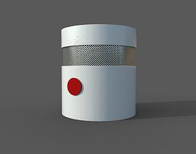 3D model VR / AR ready Smoke detector