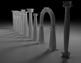 pillar 3D model Column