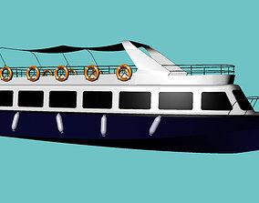 Passenger-trip ship 3D model