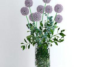 3D model Alliums and Eucalyptus plus Tangerine branches 2